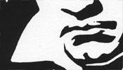 Beethoven Mund (Linoldruck Detail)