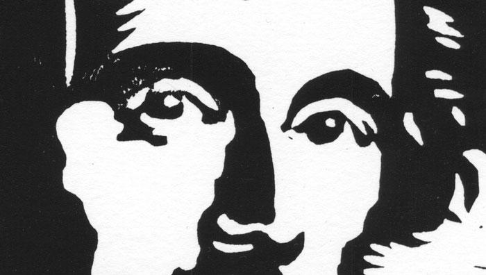 Junger Mann - Augen (Linolschnitt)