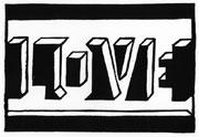 LOVE - Linolschnitt