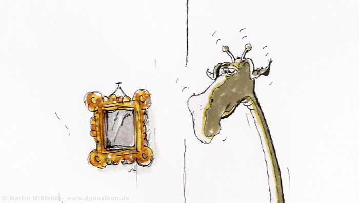 Kopf der Akt-Giraffe neben Bild