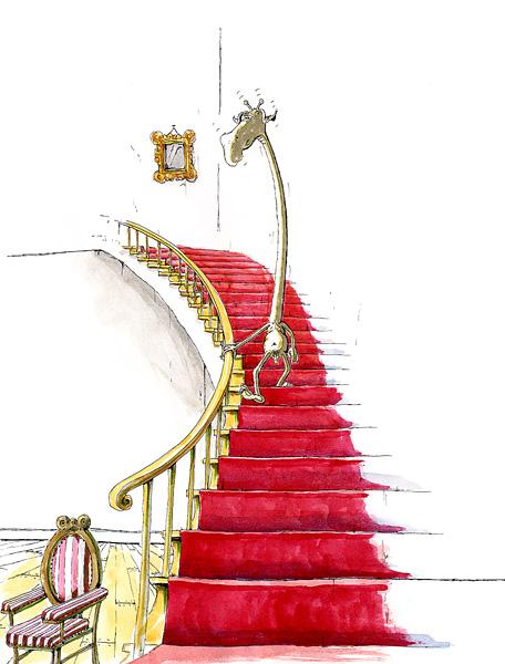 Akt, Treppe runter - nach Marcel Duchamp