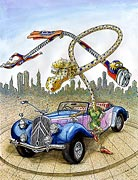 2: Heißes Auto und flotte Biene - Supermann Cartoon