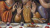 Die Hände des Andreas - Das Messer des Judas beim Abendmahl