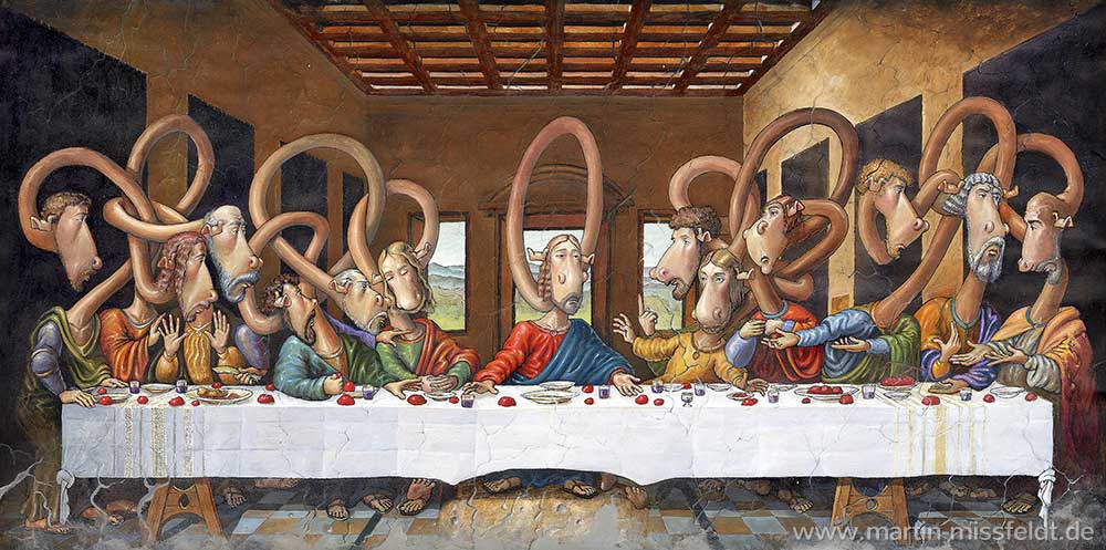 Das letzte Abendmahl - nach Leonardo da Vinci