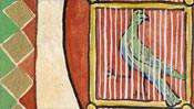 Der Vogel im Käfig und im Wappen