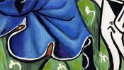 Das blaue Gewand auf dem grünen Hügel