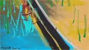 Malerischer Boden mit Schiene