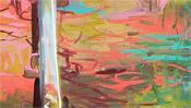 Schiene auf farbigem Boden
