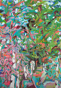 Gestische Malerei: Zweige und Blätter