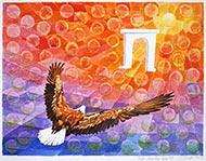 Adler zur Sonne mit Triumphbogen auf Nebenwegen