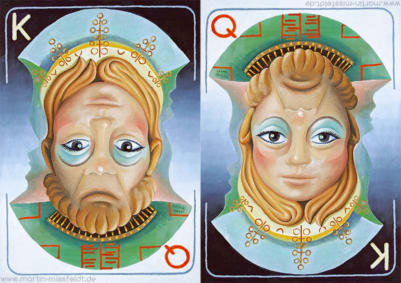 Rotated picture Queen King - both views
