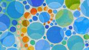 Ölmalerei: Farbige Punkte (Detail 4)