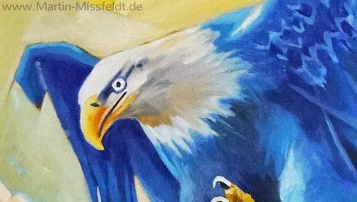 Adler Ölgemälde (Detail 2)