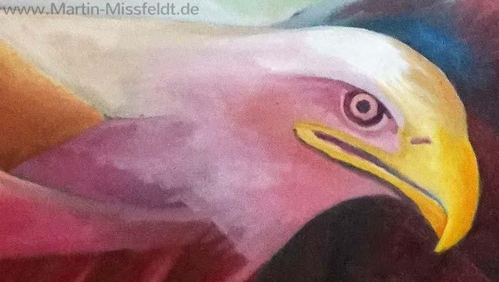 Adlerkopf Ölbild (Detail 3)