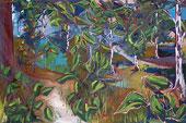 Ölmalerei: Malerei im Wald (Landschaftsmalerei)