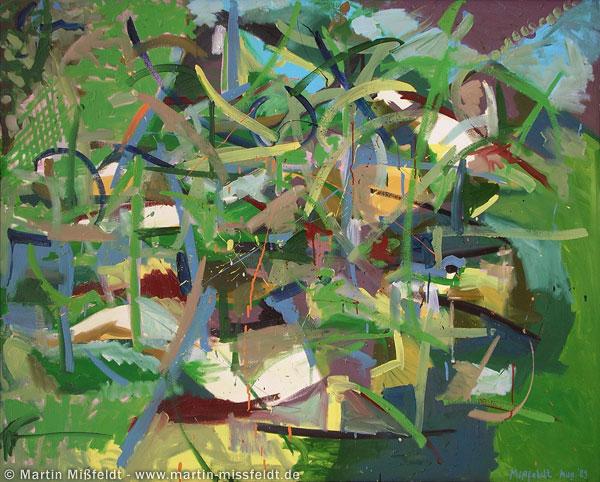 Bäume und Blätter (Wilde Ölmalerei)