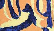 Ölfarbe gespachtelt auf Leinwand