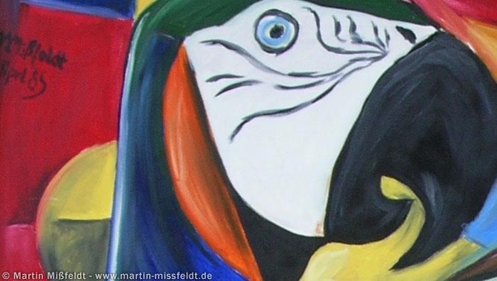 Papagei Kopf links