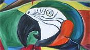 Kopf des Papagei