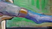 Schnell und gestisch gemalt: Fuss mit Socke