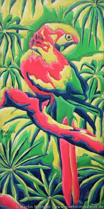 Papagei im Urwald