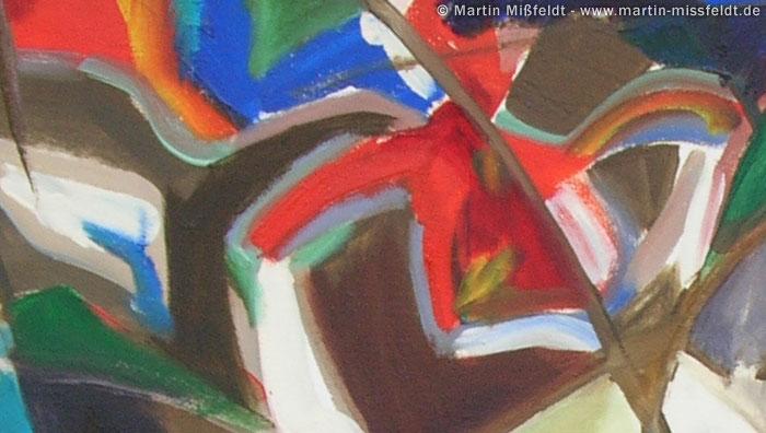 Abstrakte Malerei: Flaschenhals