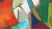 Farbige Malerei - abstralktes Bild