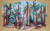 5: Ölmalerei Landschaft im Wald