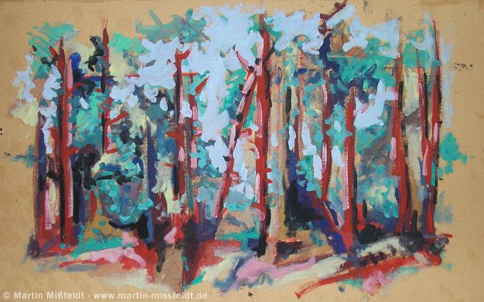 Ölmalerei Landschaft im Wald