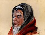 6: Portrait einer alten Frau