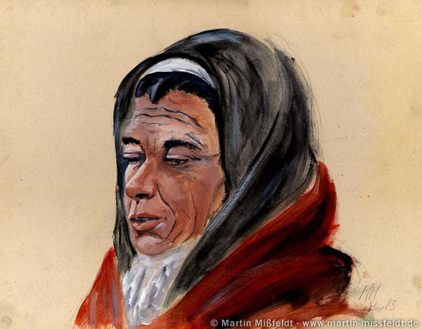 Portrait einer alten Frau (Ölbild)
