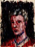 Ölmalerei: Selbstportrait im Regen