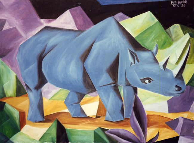Blaues Nashorn