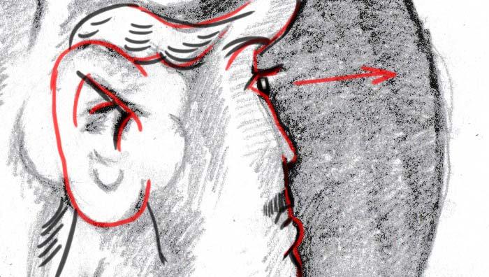 Frau lösung junge alte Lebensmittel: Wurst