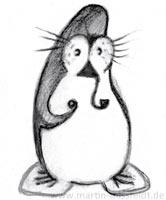 11: Pinguin mit Pfeife - Drehbild