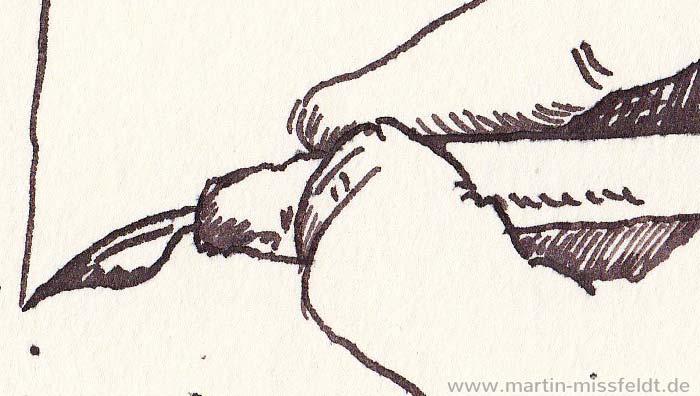 Zeichnung: Tuschefeder-Spitze