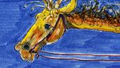 Das Pferd der Marlboro-Giraffe