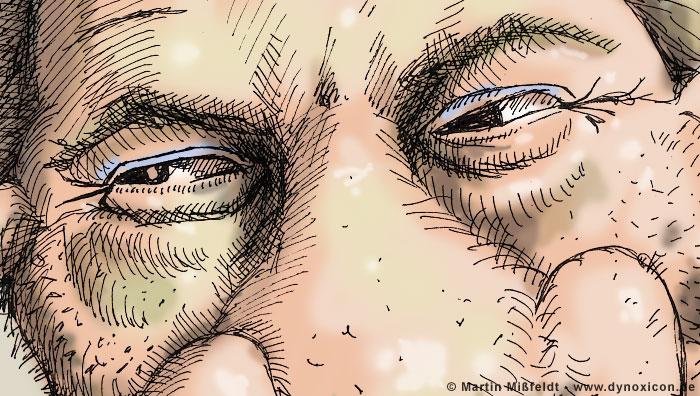 Kurt Beck seine Augen