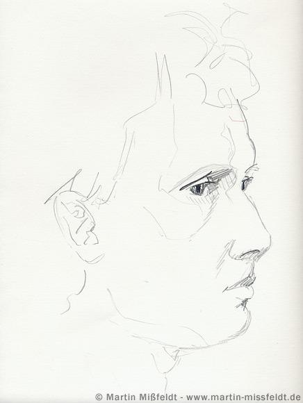 Bleistift Skizze (Wolfgang)