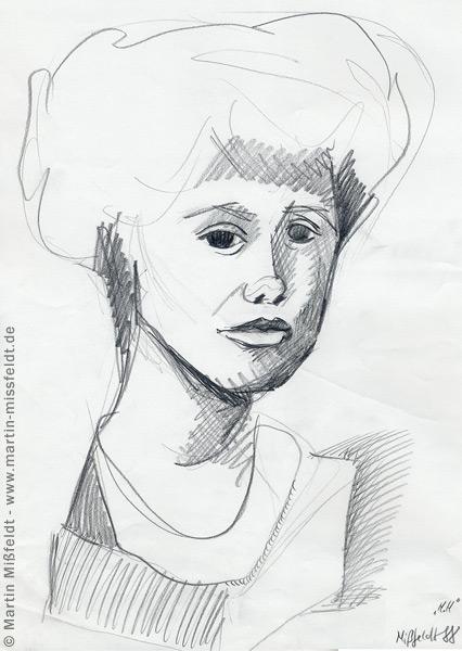 Schnelle Bleistiftzeichnung mit Schraffuren