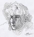 Feder-Zeichnung Portrait