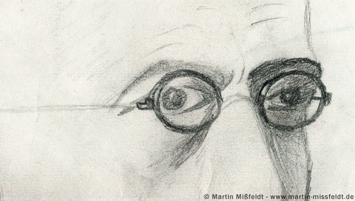 Augen mit Brille
