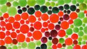 Rote und grüne Punkte