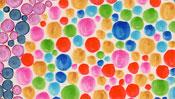 Viele Farbpunkte