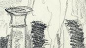 Schnell gezeichnete Bleistift-Linien