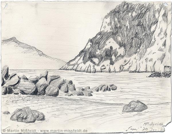 Strand von Capri - Sommer-Urlaub