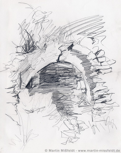 Zeichnung der Naxos-Quelle