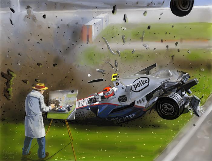 F1 Crash (Formel 1 Speed painting)
