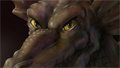 Gelbe Augen und finsterer Blick