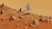 Astronaut auf dem Mars